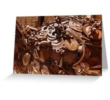 Rusty sculpture Greeting Card