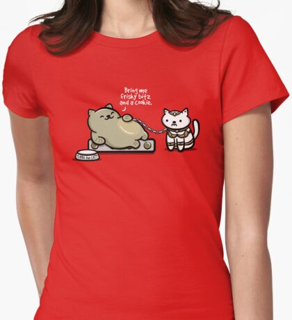 Tubba the Catt Womens Fitted T-Shirt
