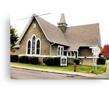 """""""Church Fire Hydrant: Used Only When the Preachin' Gets Too Hot""""... prints and products Canvas Print"""