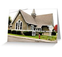 """""""Church Fire Hydrant: Used Only When the Preachin' Gets Too Hot""""... prints and products Greeting Card"""