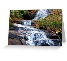 A Bartram Trail Cascading Waterfall Greeting Card
