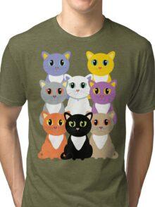 Only Eight Cats Tri-blend T-Shirt
