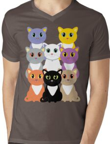 Only Eight Cats Mens V-Neck T-Shirt