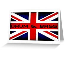 UK Drum and Bass Greeting Card