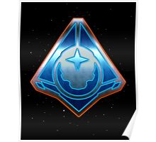 Halo 5: Guardians - Fireteam Osiris Metallic Design Poster