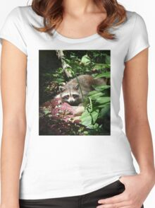 CATCHING A FEW RAYS Women's Fitted Scoop T-Shirt