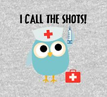 Professions Owl Nurse I Call the Shots Womens Fitted T-Shirt