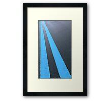 .Blue Road Framed Print