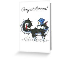 Husky Grad Greeting Card
