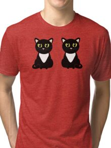 Two Black and White Cats Tri-blend T-Shirt