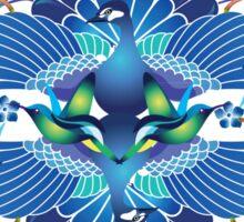 Blue Peacock Love Sticker