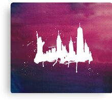 New York Watercolor Skyline Canvas Print