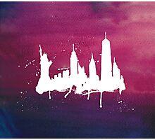 New York Watercolor Skyline Photographic Print