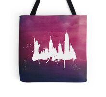 New York Watercolor Skyline Tote Bag
