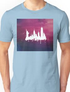 New York Watercolor Skyline Unisex T-Shirt
