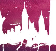 New York Watercolor Skyline Sticker