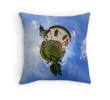 Planet St.Sebastien - Miniature planet of Chapelle Saint Sebastien in Dambach-la-ville, France.  Throw Pillow