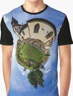 Planet St.Sebastien - Miniature planet of Chapelle Saint Sebastien in Dambach-la-ville, France.  Graphic T-Shirt