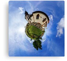 Planet St.Sebastien - Miniature planet of Chapelle Saint Sebastien in Dambach-la-ville, France.  Canvas Print