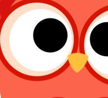 Emergency Professions Owl Firefighter Sticker