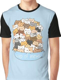 Cup of Mews - Cats Graphic T-Shirt