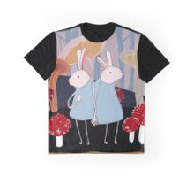 the Rabbits Forest Graphic T-Shirt
