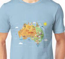 Graphic Map of Australia Unisex T-Shirt