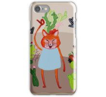 the Fox and Cactus iPhone Case/Skin