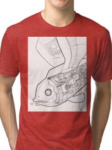 Flying Fish and Party Gnomes Tri-blend T-Shirt