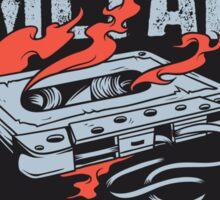 Metal Dectector Flaming Audio Cassette Sticker