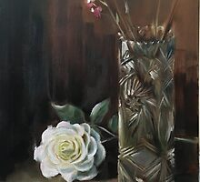 Rose & Vase - March  by Jane Bailey