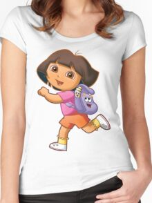 Dora Women's Fitted Scoop T-Shirt