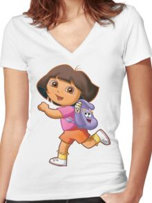 Dora Women's Fitted V-Neck T-Shirt