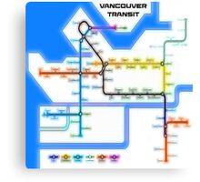 Vancouver Transit Network Canvas Print