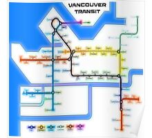 Vancouver Transit Network Poster