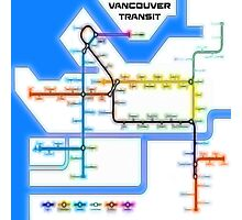 Vancouver Transit Network Photographic Print