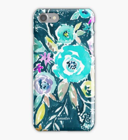BEAUTY AND THE BADASS FLORAL iPhone Case/Skin
