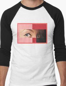 Black and Red Men's Baseball ¾ T-Shirt