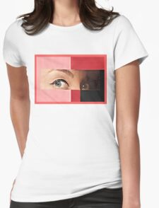 Black and Red Womens Fitted T-Shirt