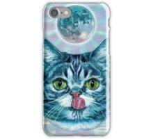 Kittens love moon iPhone Case/Skin