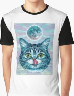 Kittens love moon Graphic T-Shirt