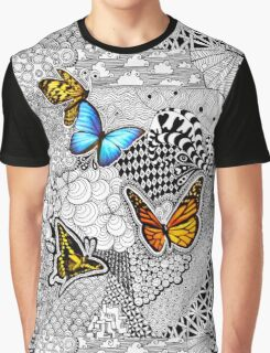 Tangled Butterflies Graphic T-Shirt