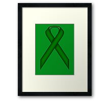 Emerald Green Standard Ribbon Framed Print