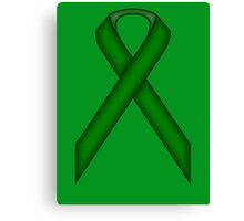 Emerald Green Standard Ribbon Canvas Print