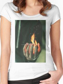 Incendio spell Women's Fitted Scoop T-Shirt