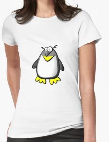 Silly penguin Womens Fitted T-Shirt
