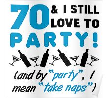 Funny 70th Birthday Party Poster