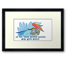 Shipping Goggles Framed Print
