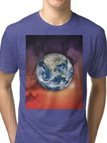 Planet Earth In Space Tri-blend T-Shirt