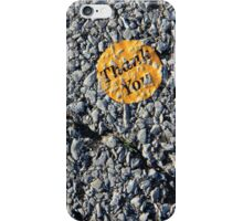 Concrete Thank You iPhone Case/Skin